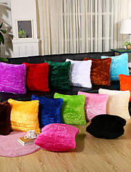cheap -15 Color Velveteen Solid Color Square Pillow Cover Simple Pillow Case