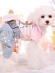 preiswerte -T-shirt Hundekleidung Atmungsaktiv Niedlich Lässig/Alltäglich Karton Gelb Blau Rosa Kostüm Für Haustiere