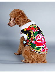 cheap -Dog Costume Coat Sweatshirt Christmas Dog Clothes New Year's Nature Black Red Green Blue Costume For Pets