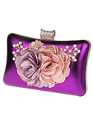 cheap -Women's Bags PU Polyester Coin Purse Bow(s) Flower for All Seasons Black Silver Red Purple Fuchsia