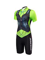 Tuta da triathlon Per donna Manica corta Bicicletta triathlon/Tuta Triathlon Design anatomico Permeabile all'umidità Zip anteriore