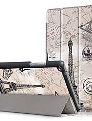 Недорогие -Крышка корпуса pu для huawei mediapad t3 8.0 kob-l09 kob-w09 8 с защитой экрана