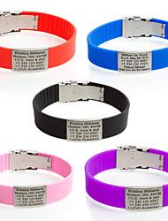 Недорогие -Муж. Детские ID браслеты Бижутерия Мода Сделай-сам Нержавеющая сталь Силикон Круглой формы Бижутерия Для Спорт