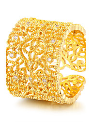 Women's Vintage Elegant Gold Zircon Ring Jewelry For Wedding Anniversary Party/Evening Daily