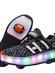 Kid's LED Light Skate Shoes Lightweight Materials Blue/Black/Blushing Pink