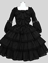 cheap -Gothic Lolita Dress Punk Lolita Dress Princess Punk Lace Women's Teen Girls' One Piece Dress Cosplay Green 3/4 Length Sleeves