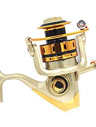 baratos -Molinetes de Pesca Molinetes Rotativos 5.1:1 Relação de Engrenagem+10 Rolamentos Orientação da mão Trocável Pesca de Mar Pesca Voadora
