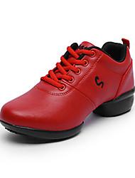 "cheap -Women's Modern Leatherette Sneaker Outdoor Flower Flat Heel White Black Red 2"" - 2 3/4"" Non Customizable"