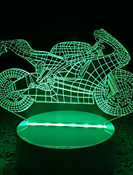 cheap -3D Acrylic Motorcycle LED Lamp Discoloration Night Lights for Kids Room Decorative Lamps Remote Control USB Lights Funny Vehicle Lamps for Family