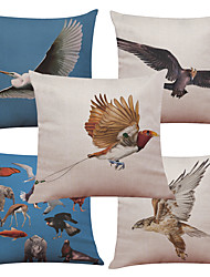 cheap -Set of 5 Flying Eagle Pattern  Linen Pillowcase Sofa Home Decor Cushion Cover (18*18inch)