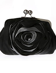 cheap -Women's Bags Chiffon / Silk Clutch Crystal / Rhinestone / Flower for Wedding / Event / Party / Sports White / Black / Red