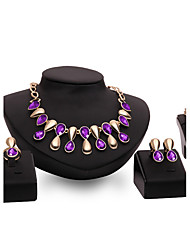 cheap -Women's Jewelry Set - Gold Plated Personalized, Vintage, Fashion Include Purple / Blue For Wedding / Party / Special Occasion