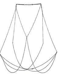 Недорогие -Женский Украшения для тела Цепь Тела / Belly Chain Природа Дружба Богемия Стиль Хип-хоп Фильм ювелирные изделия Сплав Геометрической формы