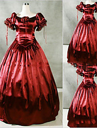 Victorian Rococo Female One Piece Dress Cosplay Other Satin Short Sleeves Cap Floor Length