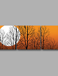 cheap -Stretched Canvas Print Three Panels Canvas Wall Decor Home Decoration Abstract Modern Sunrise Trees