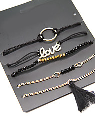 cheap -Women's Chain Bracelet Bohemian Movie Jewelry Turkish Handmade Alloy Circle LOVE Jewelry Special Occasion Birthday Gift Costume Jewelry