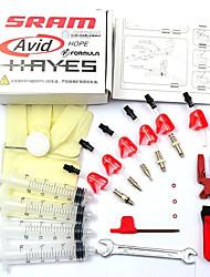 cheap -Bicycle hydraulic Disc Brake Bleed Kit tool For AVID ELIXIR JUICY CODE Formula HYGIA USAGI HAYES J3 J5 J7 Formula R1 RX K24 K18 Standard Kit
