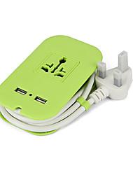 Steckdosenleiste 2 USB-Anschlüsse 100-250V 8a eu Stecker mit 1.8m Kabel 4outlets