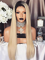 New Style T1B/613 Skily Straight Full Lace Human Hair Wigs with Baby Hair Glueless Lace Front Wigs Brazilian Virgin Hair Wigs for Black Woman