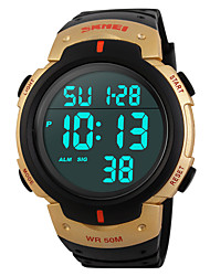 cheap -SKMEI® 1068  Men's Woman Solar ElectronicWatches Outdoor Sports Waterproof Sports Electronic Watches 50 Meters Waterproof