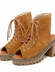 Women's Platform Chunky Heel Sandals Slingback Club Shoes Office & Career Party & Evening Dress