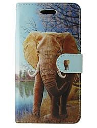preiswerte -Hülle Für Samsung Galaxy A5(2017) A3(2017) Kreditkartenfächer Geldbeutel mit Halterung Flipbare Hülle Ganzkörper-Gehäuse Elefant Cartoon