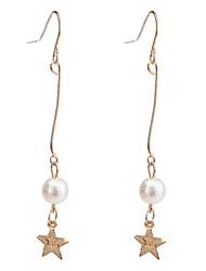 Drop Earrings  Women's Girls' Boll Star Gold Euramerican Personalized  Movie Jewelry Party Dailywear Statement Jewelry