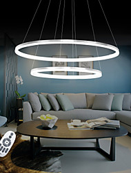cheap -Circular Pendant Light Ambient Light - LED, 110-120V / 220-240V, Warm White / White / Dimmable With Remote Control, LED Light Source