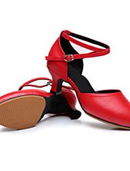 """Women's Latin Heel Outdoor Buckle Low Heel Gold Black Silver Red 2"""" - 2 3/4"""" Customizable"""