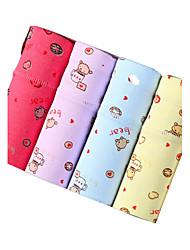 4Pcs/Lot Women's Fashion Sexy Cute Print Briefs Cotton Spandex Underwear