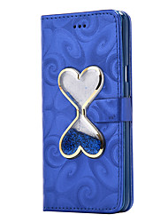 cheap -For Samsung Galaxy A5(2016) A3(2016) Case Cover Card Holder Wallet Shifting Sand Funnel Flip PU Leather Case Samsung Galaxy A3 A5 A7 A8 A9
