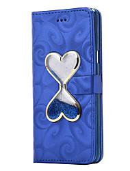 Недорогие -Кейс для Назначение SSamsung Galaxy A5(2016) A3(2016) Кошелек Бумажник для карт со стендом Движущаяся жидкость Флип Магнитный Чехол