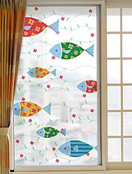 cheap -Window Film Window Decals Style Fish Dull Polish PVC Window Film - (60 x 116)cm