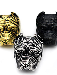 cheap -Men's Ring Jewelry Black Silver Golden Stainless Steel Animal Animal Design Statement Jewelry Punk Christmas Gifts Halloween Daily Casual