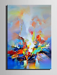 cheap -Hand-Painted Abstract Vertical, Other Retro Canvas Oil Painting Home Decoration One Panel