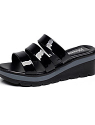 Women's Sandals Casual Synthetic Summer Daily Chunky Heel Pool Ruby Black 2in-2 3/4in