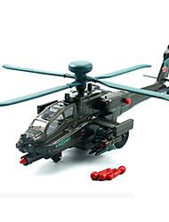 Недорогие -KDW Наборы для моделирования Машинки с инерционным механизмом Вертолет Летательный аппарат Автомобиль Вертолет Универсальные Игрушки Подарок