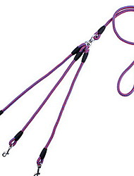 Dog Dog Double Leashes Black/Red Black/Blue Red,Blue,Purple Random Color