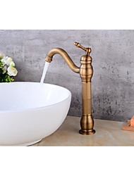 cheap -Contemporary Centerset Ceramic Valve Single Handle One Hole Antique Copper, Bathroom Sink Faucet