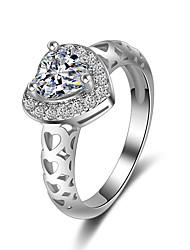 Кольцо Обручальное кольцо Цирконий Сердце Мода Elegant Цирконий В форме сердца Бижутерия Для Свадьба Для вечеринок 1 набор