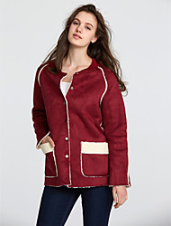 cheap -Women's Classic & Timeless Jacket-Solid Color,Formal Style