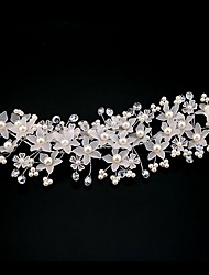 Wedding Hair Accessories Crystal Pearl Flower Barrettes Bridal Tiara And Crown Hair Pin Handmade Hairpin Korea Hair Jewelry