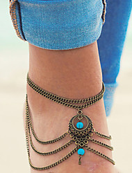 cheap -Anklet - Unique Design, European, Simple Style Silver / Bronze For Daily / Casual / Women's
