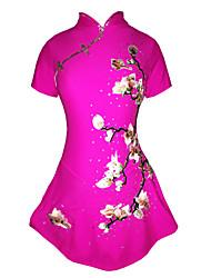 Robe de Patinage Artistique Femme Fille Robe de Patinage Pêche Spandex Elasthanne Haute élasticité A Bijoux Strass Utilisation Fait à la