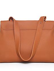 preiswerte -Damen Taschen PU Umhängetasche Reißverschluss für Normal Ganzjährig Grün Schwarz Rote Grau Braun