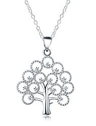 Недорогие -Муж. / Жен. Заявление ожерелья  -  Серебрянное покрытие Дерево жизни Мода Серебряный Ожерелье Назначение Повседневные