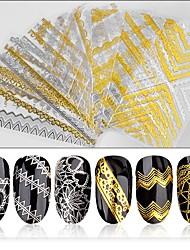 cheap -1pcs Stickers & Tapes Nail Stamping Template Nail Art Design Nail Decals