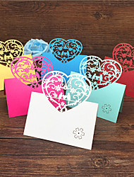 cheap -40pcs Love Birds Laser Cut Wedding Party Table Name Place Cards Birdcage Guest Place Cards Favors Wedding Decoration