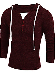 cheap -Men's Long Sleeves Long Pullover - Animal Round Neck
