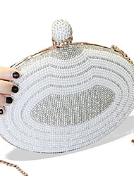 cheap -Women Bags PU Evening Bag Rhinestone Pearl Detailing Metal Chain for Christmas Wedding Birthday Event/Party Business Casual Stage Formal